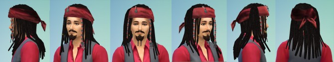 Jack Sparrow hair by necrodog at Mod The Sims image 559 Sims 4 Updates