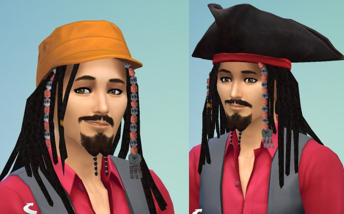Jack Sparrow hair by necrodog at Mod The Sims image 5610 Sims 4 Updates