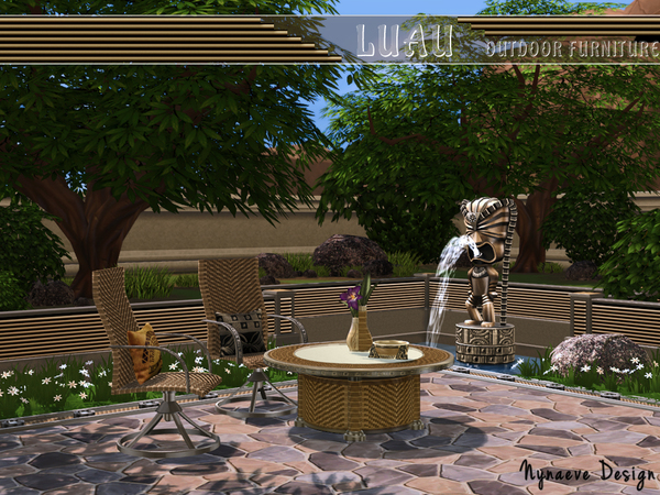 Sims 4 Luau Outdoor Furniture by NynaeveDesign at TSR