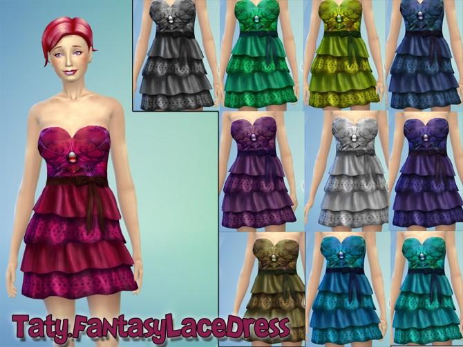 Sims 4 Fantasy lace dress at Taty – Eámanë Palantír