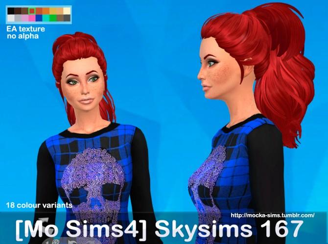 Sims 4 Mo Sims4 Skysims 167 hair converted at Mocka Simblr