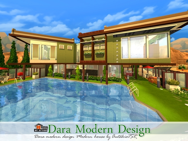 Dara Modern Design Home by autaki at TSR image 5816 Sims 4 Updates