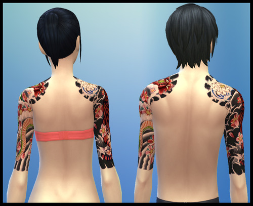 Japanese Sleeve Tattoo at Gefa Sims image 5821 Sims 4 Updates