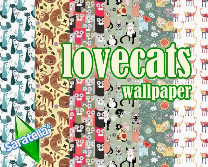 Lovecats wallpapers at Saratella's Place image 588 Sims 4 Updates