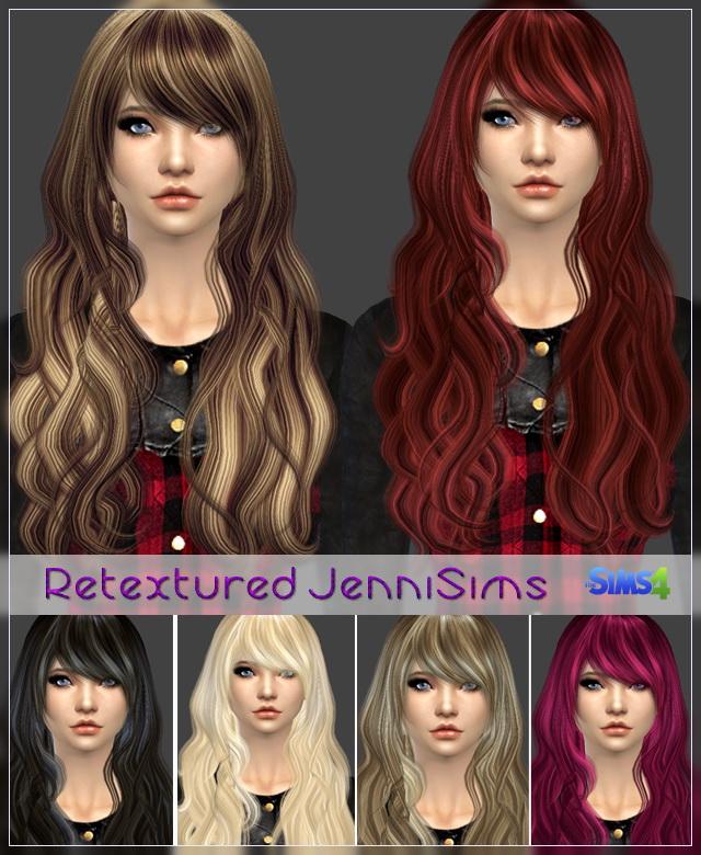 Sims 4 Elasims and RucySims Hairs Converted Retexture at Jenni Sims
