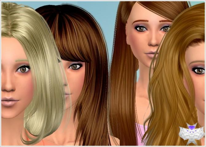Conversion Hairs 3T4 Set 4 at David Sims image 598 Sims 4 Updates