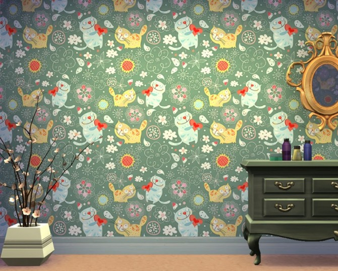 Lovecats wallpapers at Saratella's Place image 599 Sims 4 Updates