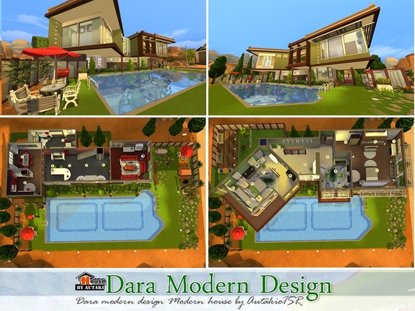 Dara Modern Design Home by autaki at TSR image 6018 Sims 4 Updates