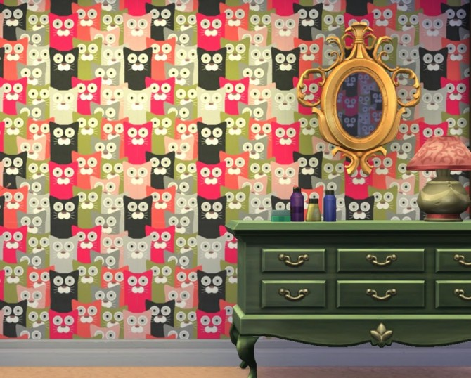Lovecats wallpapers at Saratella's Place image 6113 Sims 4 Updates