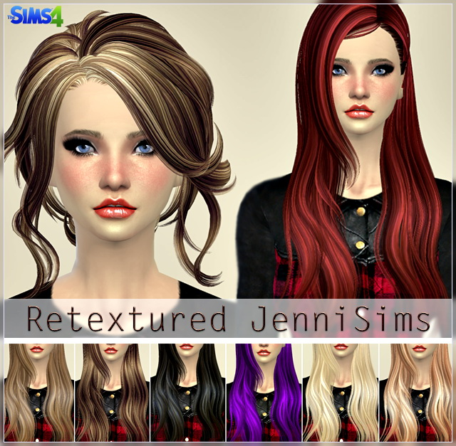 Elasims and RucySims Hairs Converted Retexture at Jenni Sims image 6126 Sims 4 Updates