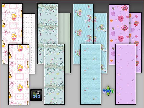 4 wall sets for girls at Arte Della Vita image 6128 Sims 4 Updates