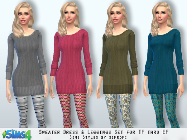 Sweater and Leggings by Simromi at TSR image 6131 Sims 4 Updates