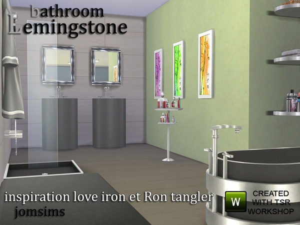 Lemingstone Bathroom by JomSims at TSR image 618 Sims 4 Updates