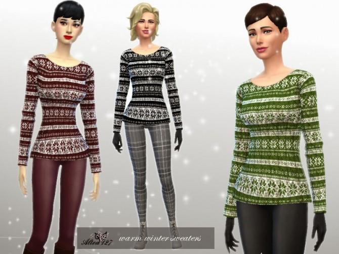 Sims 4 Warm Winter Set at Altea127 SimsVogue