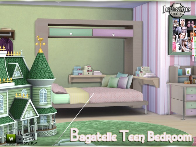 Bagatelle bedroom by jomsims at TSR image 629 Sims 4 Updates