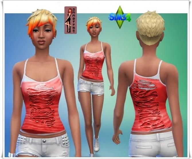 Sims 4 Torn top at Annett's Sims 4 Welt