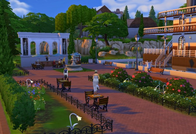 Sims 4 Bohemian cruise lot at Architectural tricks from Dalila
