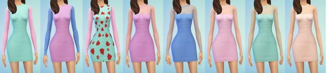 Sims 4 17 long sleeve dresses at Dani Paradise