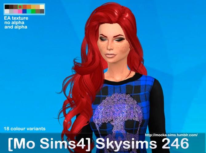 Skysims 246 3T4 hair conversion at Mocka Simblr image 656 Sims 4 Updates