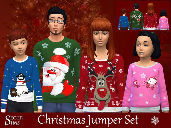 Christmas Jumpers by SegerSims at TSR image 660 Sims 4 Updates