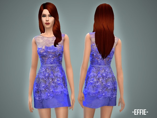 Effie dress by April at TSR image 6615 Sims 4 Updates