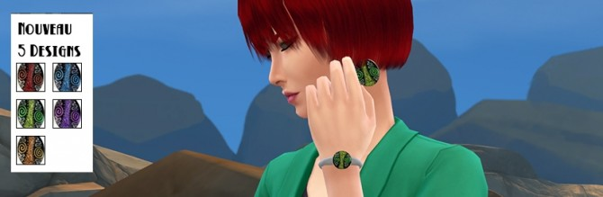 Fantasy earrings and bracelet by Fuyaya at Sims Artists image 66211 Sims 4 Updates
