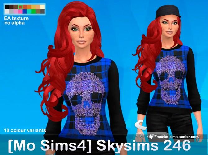 Skysims 246 3T4 hair conversion at Mocka Simblr image 666 Sims 4 Updates