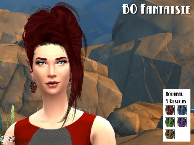 Fantasy earrings and bracelet by Fuyaya at Sims Artists image 67211 Sims 4 Updates