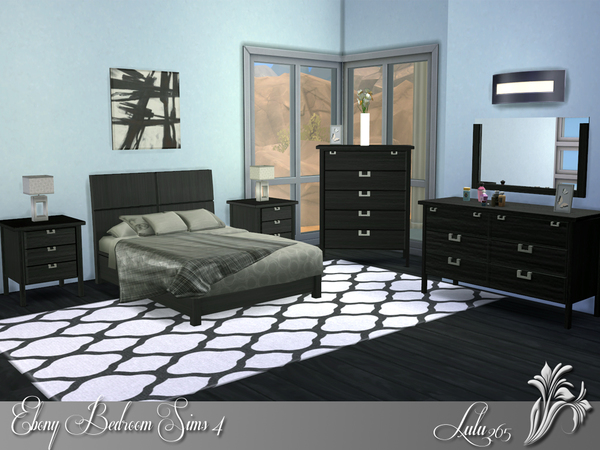 Ebony Bedroom by Lulu265 at TSR image 6814 Sims 4 Updates