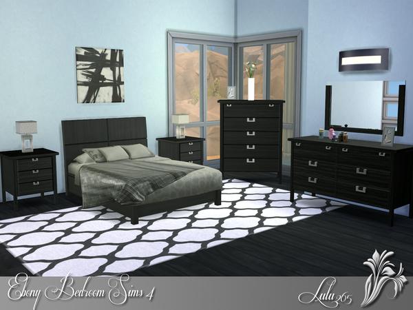 Sims 4 Ebony Bedroom by Lulu265 at TSR
