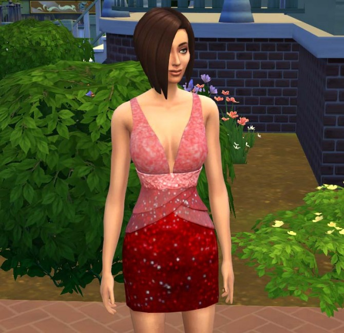 Sims 4 All That Glitters dress by scarletphoenix91 at Mod The Sims