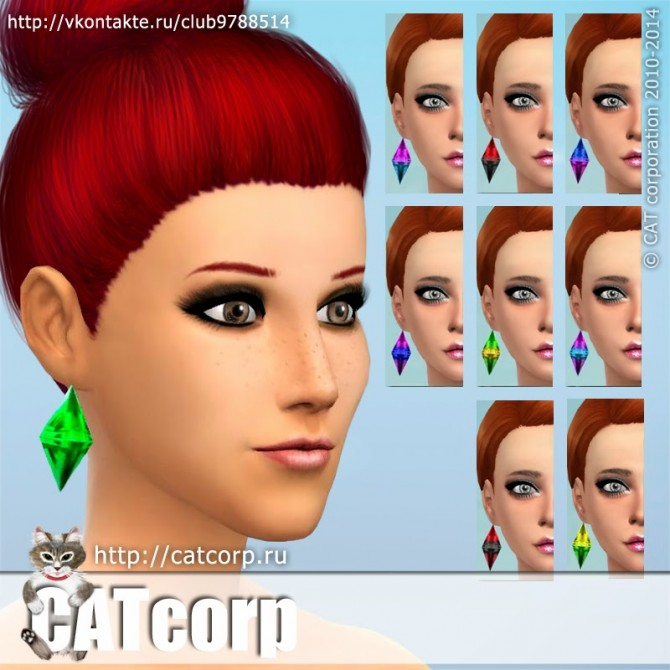 Plumbob Earrings recolors at CATcorp image 69 Sims 4 Updates
