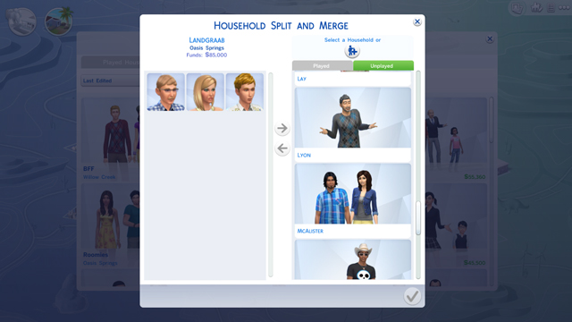 Sims 4 Guide to Splitting and Merging Households at The Sims™ News