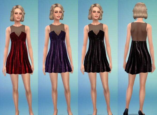 Sims 4 Velvet Dresses at Belle's Simblr