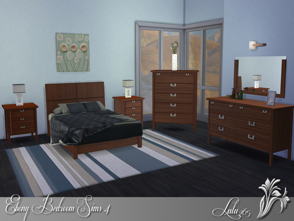 Ebony Bedroom by Lulu265 at TSR image 6915 Sims 4 Updates