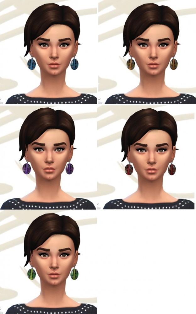 Fantasy earrings and bracelet by Fuyaya at Sims Artists image 6920 Sims 4 Updates
