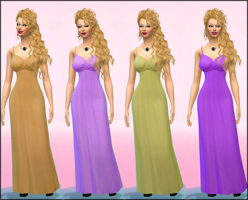 Sims 4 Maxis Dress Retextured and Recoloured at Julie J