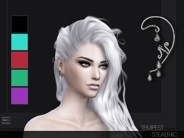 Tempest Ear Cuff L/R by Stealthic at TSR image 710 Sims 4 Updates