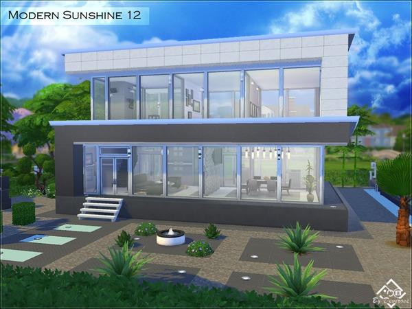 Sims 4 Modern Sunshine 12 house by Devirose at TSR