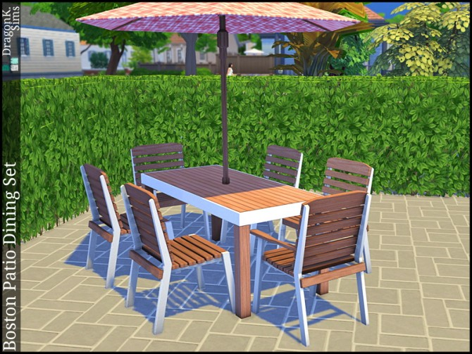 Boston Patio Dining Set at DragonK Sims image 7112 Sims 4 Updates