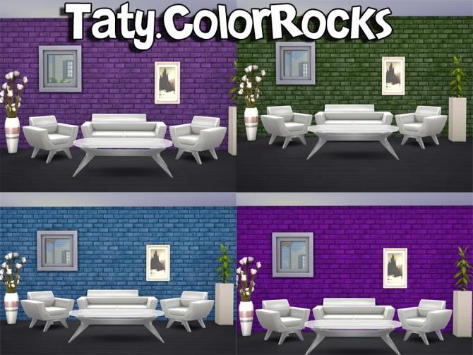 Sims 4 Color rocks wall at Taty – Eámanë Palantír