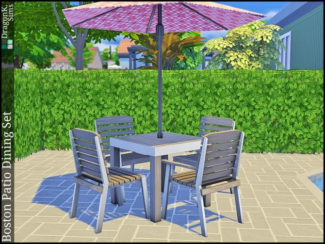 Boston Patio Dining Set at DragonK Sims image 7210 Sims 4 Updates