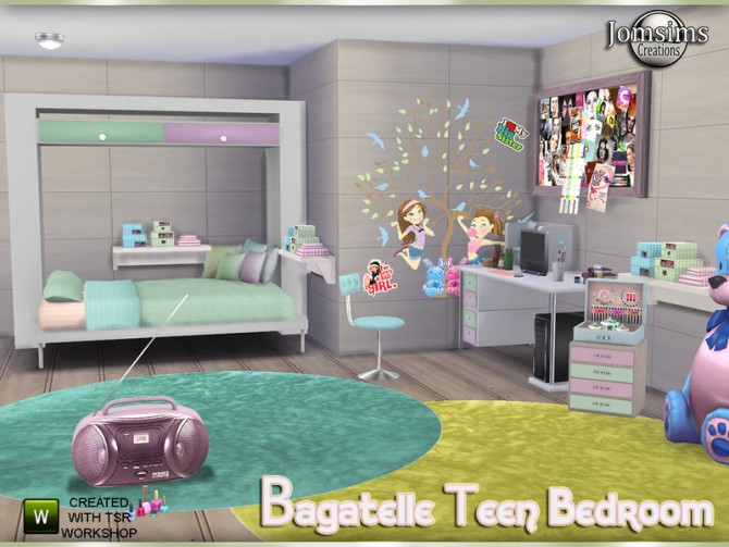Bagatelle bedroom by jomsims at TSR image 730 Sims 4 Updates