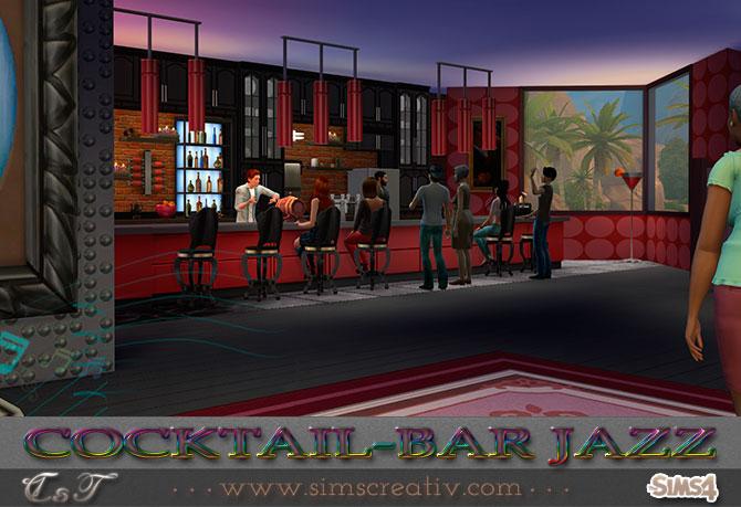 Cocktail Bar Jazz By Tanitas8 At Sims Creativ 187 Sims 4 Updates