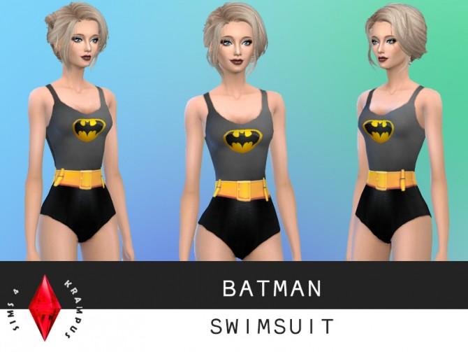 Batman swimsuit at Sims 4 Krampus image 7322 Sims 4 Updates
