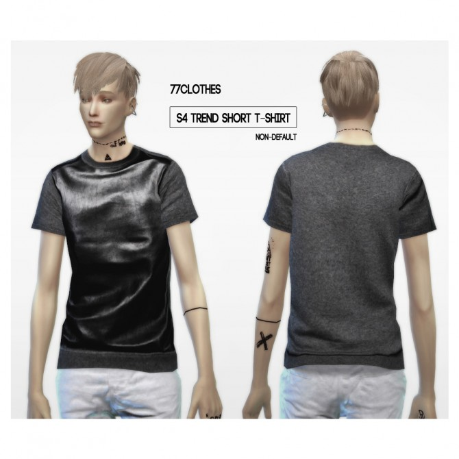 77Clothes S4 trend short T Shirt at The77Sims3 image 7332 Sims 4 Updates