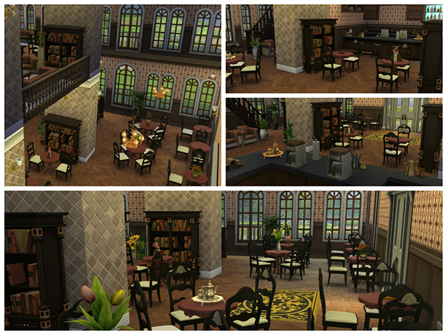 Sims 4 Old Coffee Library by Sim4fun at Sims Fans
