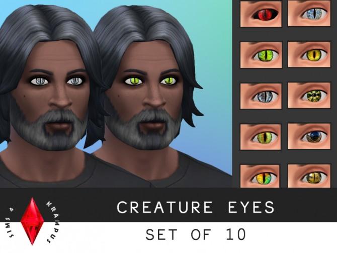 Creature eyes, set of 10 at Sims 4 Krampus image 7420 Sims 4 Updates