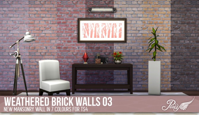 3 weathered brick patterns and 6 decorative wallpapers at Simsational Designs image 757 Sims 4 Updates