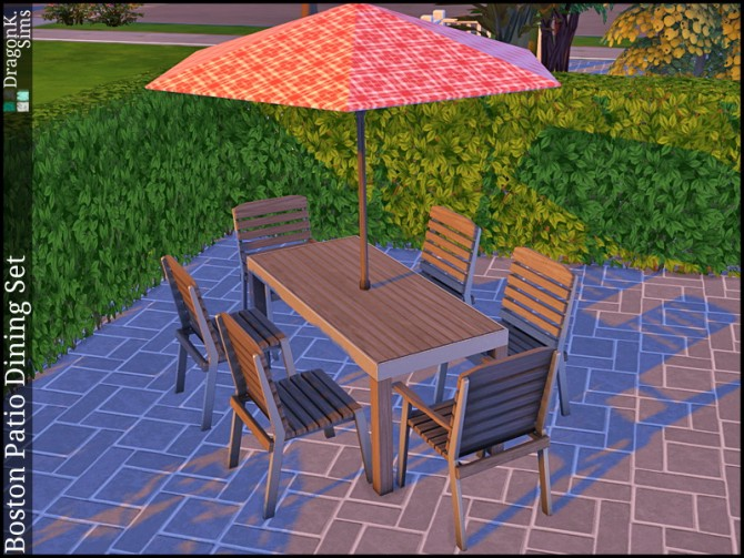 Boston Patio Dining Set at DragonK Sims image 758 Sims 4 Updates